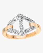 Walters Faith Keynes Diamond Two Tone Hexagon Ring