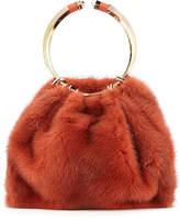 Valentino Bebop Loop Mink Fur Top-Handle Bag