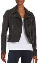 Free People Faux Leather Motorcycle Jacket