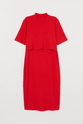 H&M MAMA Ribbed nursing dress