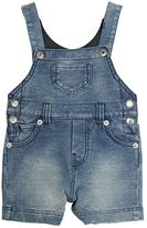 Dolce & Gabbana Denim Effect Cotton Sweatshirt Overalls