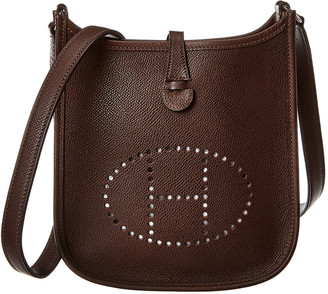 Hermes Brown Epsom Leather Evelyne I Tpm