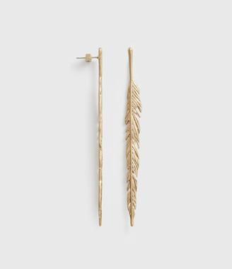 AllSaints Fern Gold-Tone Drop Earrings