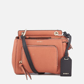 DKNY Women's Pebble Leather Mini Top Handle Cross Body Bag - Terracotta