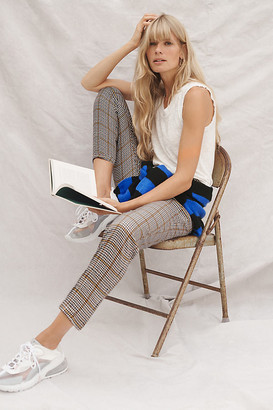 Anthropologie Arosa Tapered Plaid Pants By in Yellow Size S