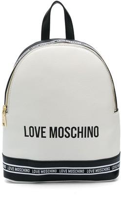 Love Moschino Logo-Print Pebble Backpack