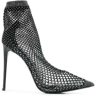 Le Silla Stud Embellished Mesh Boots