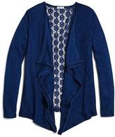 Splendid Girls' Crochet Back Cardigan - Sizes 7-14