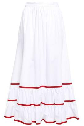 Stella Jean Gathered Cotton Midi Skirt