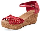 Toms Woven Satin Platform Sandal