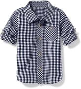 Old Navy Gingham Rolled-Sleeve Shirt for Toddler