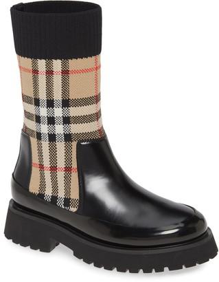 Burberry Sock Knit Chelsea Boot