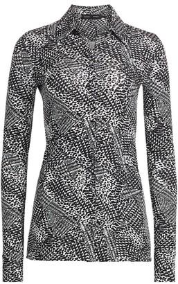 Proenza Schouler Mixed Print Matte Jersey Blouse