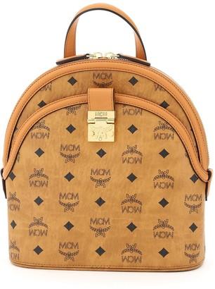 MCM Anna Logo Print Backpack