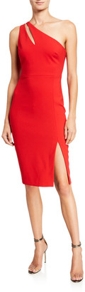 LIKELY Lissette One-Shoulder Cutout Cocktail Dress
