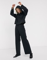 Nike Premium High Waist Wide Leg Black Sweatpants