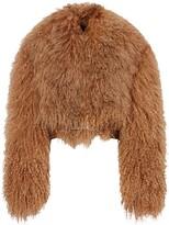Burberry shearling biker jacket