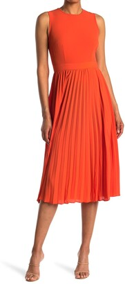 Donna Morgan Sleeveless Pleated Midi Dress