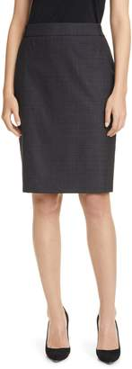 BOSS Virusa Virgin Wool Pencil Skirt