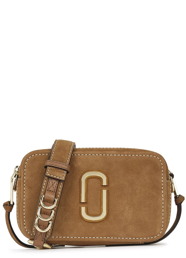 MARC JACOBS, THE The Softshot 21 brown suede cross-body bag