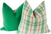 One Kings Lane Vintage Wool Camp Blanket Pillow, Pr
