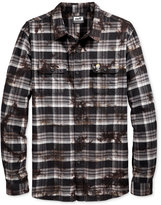 Neff Men's Long-Sleeve Burger Boys' Plaid Shirt