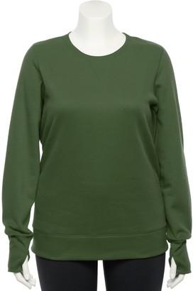 Tek Gear Plus Size Crewneck Fleece Sweatshirt