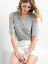 Gap Softspun cold shoulder top