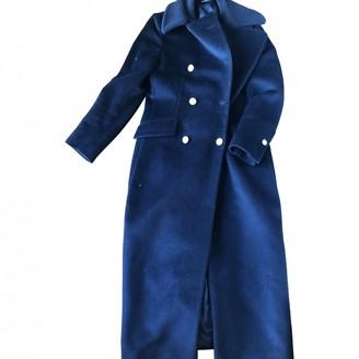 Tagliatore Blue Wool Coats