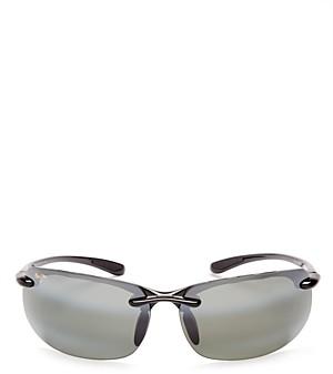 Maui Jim Men's Banyans Polarized Rimless Wraparound Sunglasses, 73mm