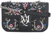 Alexander McQueen Insignia embroidered satchel - women - Calf Leather/PVC - One Size