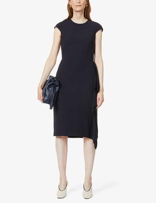 Max Mara Nerine capped-sleeve crepe midi dress