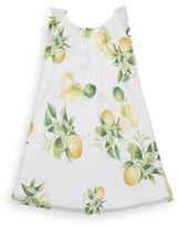 Roberto Cavalli Little Girl's Lemon-Print Cotton Shift Dress