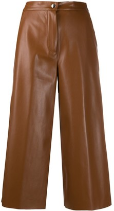 Semi-Couture Eco-Leather Wide Leg Trousers