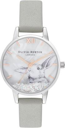Olivia Burton Winter Wonderland Leather Strap Watch, 30mm