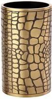 L'OBJET Embossed Brass Vase / Pen Holder
