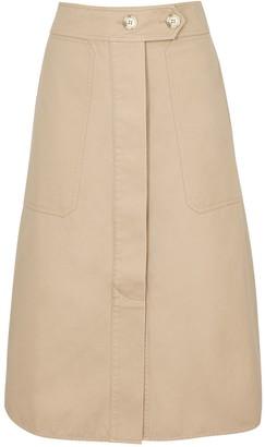 Lee Mathews Workroom sand twill midi skirt