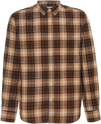 Officine Generale Checked Cotton Button-Up Shirt