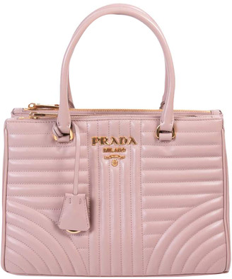 Prada Nude Quilted Soft Leather Diagramme Bag