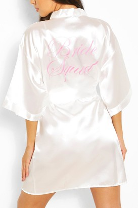 boohoo Brides Squad Metallic Robe