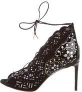 Nicholas Kirkwood Laser Cut Lace-Up Sandals