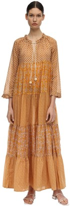 Yvonne S Hippy Cotton Voile Maxi Dress