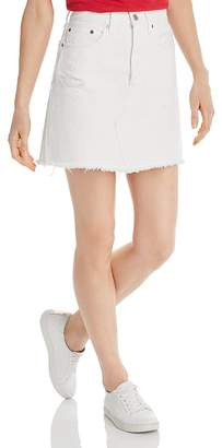 Levi's High-Rise Iconic Denim Skirt in Pearly White