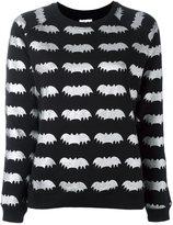 Zoe Karssen metallic 'bats' print sweatshirt