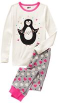 Crazy 8 Penguin 2-Piece Pajama Set