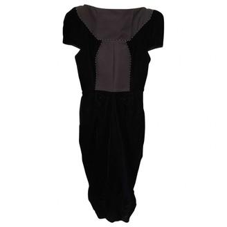 Gianfranco Ferre Black Velvet Dress for Women