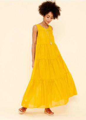 La Fee Maraboutee - Mustard Sleeveless Long Dress - 38 | mustard - Mustard
