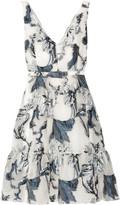 Erdem Gaby Belted Fil Coupé Dress - UK8