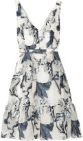 Erdem Gaby Belted Fil Coupé Dress - White