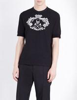 Alexander McQueen Crewneck skull-print cotton-jersey t-shirt